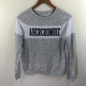 Abercrombie Kids Gray and White Stripe Sweatshirt
